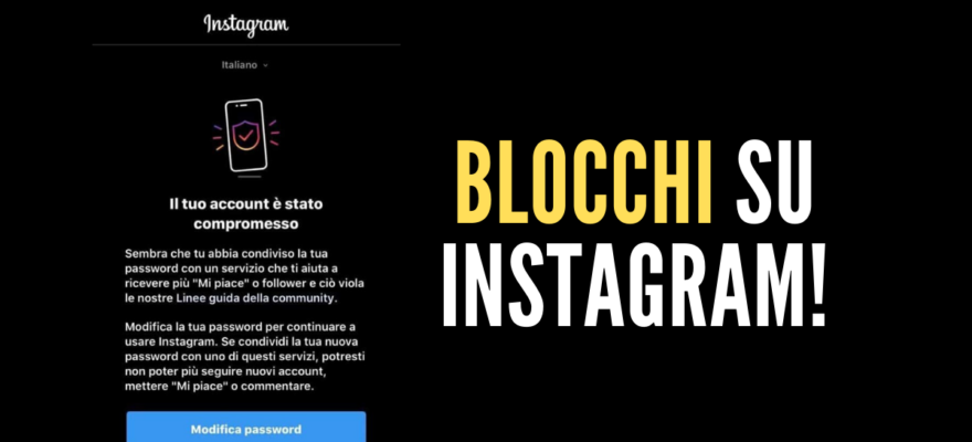 blocchi su instagram